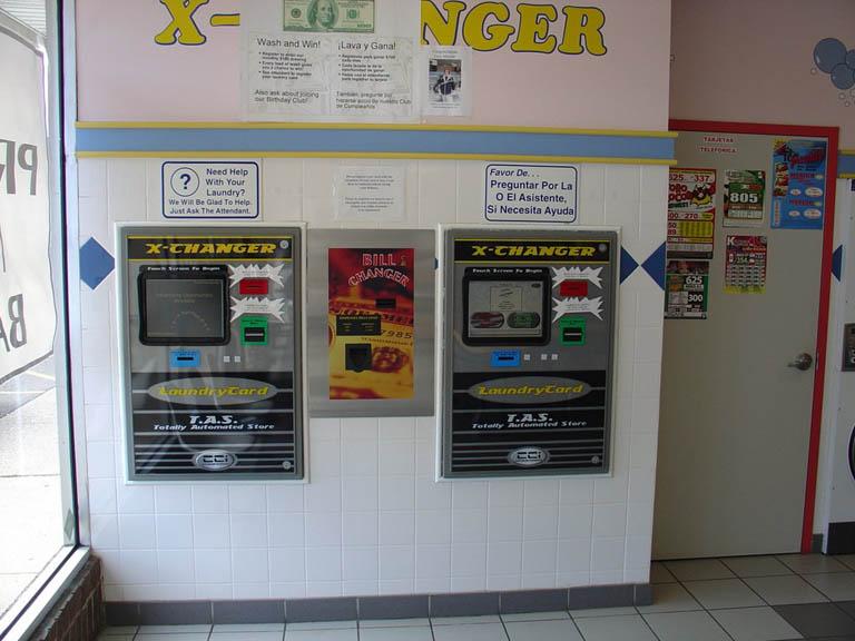 laundry card machine